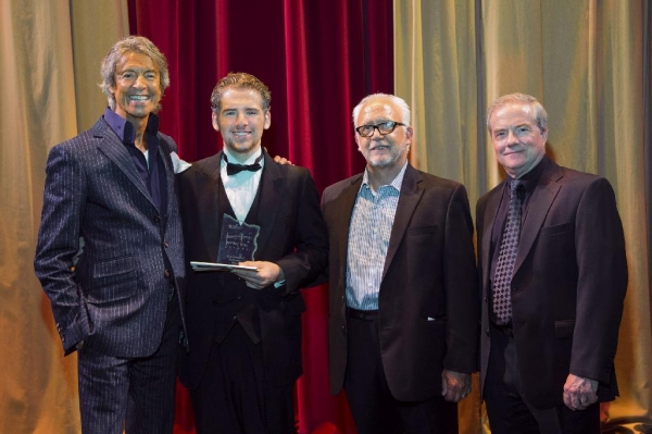Tommy Tune, Best Featured Performer Winner Stephan Lewis, TUTS' Artisitc Director Bruce Lumpkin & TUTS' President and CEO John C. Breckenridge.