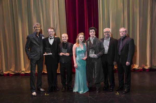 Tommy Tune, Stephan Lewis, Nathan Agnew, Allison Anderson, Winner Ryne Nardecchia, Br Photo