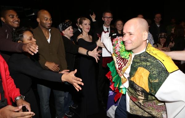 Michael Arnold with Brandon Victor Dixon, Patricia Wilcox & Cast Photo