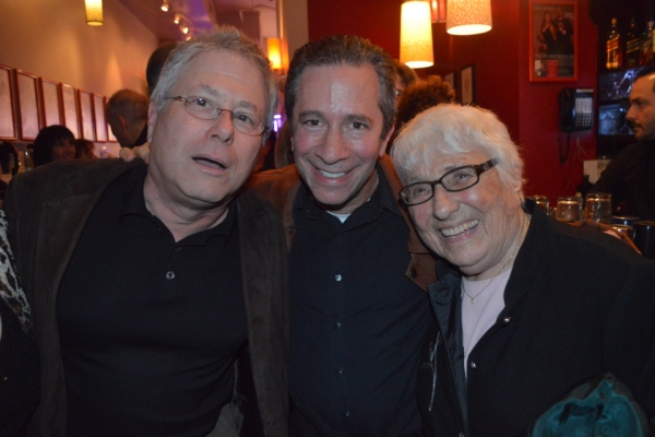 Alan Menken, Michael Lavine, Judy Menken (Alan's mother)