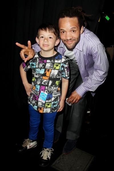 Performer Nicholas Anderson with tap dancer and Tony award winning choreographer Savion Glover