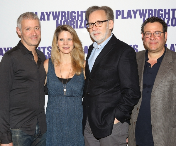 Scott Frankel, Kelli O'Hara, Michael Korie and Michael Greif