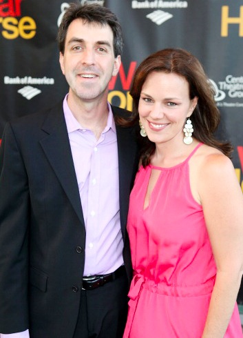 Jason Robert Brown with cool, beautiful, cute, Wife Georgia Stitt