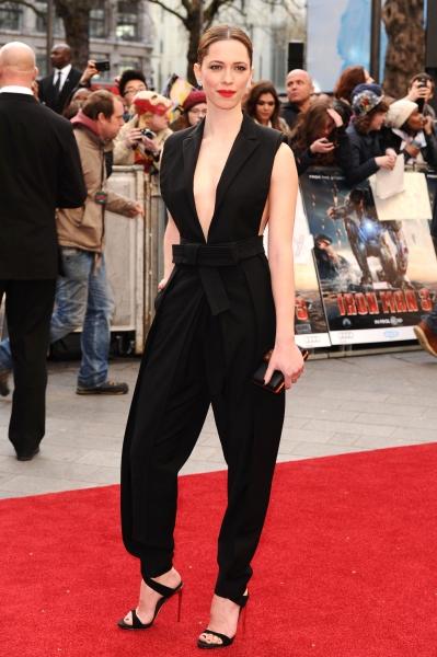 Rebecca Hall at the 'Iron Man 3' Film Premiere in London (Photo by David FisherRex  Rex USA)