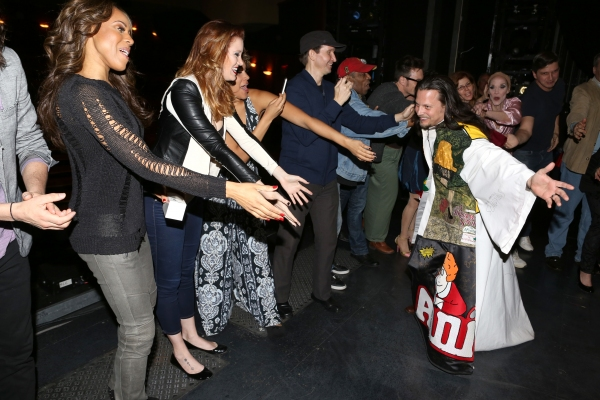 Jason Wooten with Deborah Cox, Courtney Markowitz & Emmy Raver-Lampman with cast