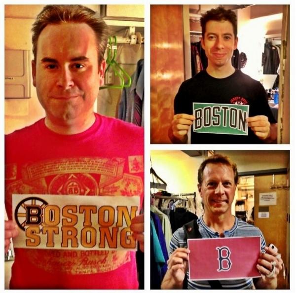 Photo Flash: Saturday Intermission Pics, April 20 - BOOK OF MORMON, JERSEY BOYS and More Send Love to Boston!
