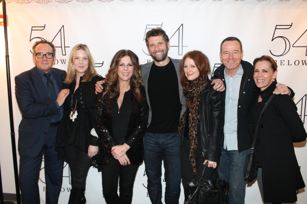 Elvis Costello, Diana Krall, Rita Wilson, Bart Freundlich, Julianne Moore, Bryan Cra Photo