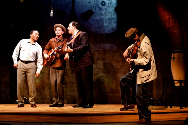 Anthony Manough as The Man, Brendan Willing James as The Poet, Nicholas Mongiardo-Cooper as The Preacher, and Trevor Wheetman, Musician.