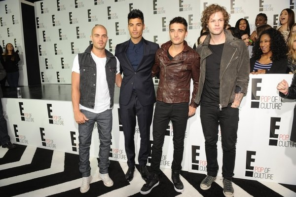 """The Wanted"" Max George, Siva Kaneswaran, Tom Parker, Jay McGuiness"