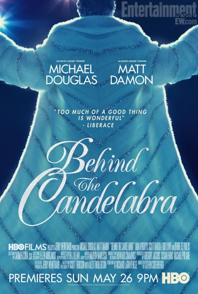 Photo Flash: First Look - New Poster Art for HBO's BEHIND THE CANDLELABRA