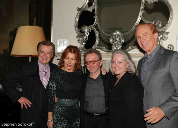 Regis Philbin, Joy Philbin, Paul Williams, Peggy Masterson Kalter, Alan Kalter