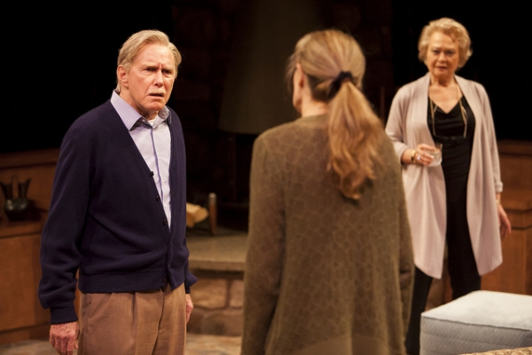 Mike Hartman as Lyman Wyeth, Kathleen McCall as Brooke Wyeth, and Lauren Klein as Polly Wyeth