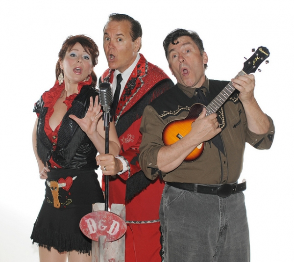 Lauren Shealy, Bruce Arntson and Matthew Carlton in THE DOYLE AND DEBBIE SHOW