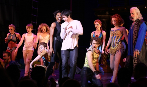 Andrew Cekala, Rachel Bay Jones, Andrea Martin, Patina Miller, Matthew James Thomas, Charlotte d'Amboise & Terrence Mann & cast