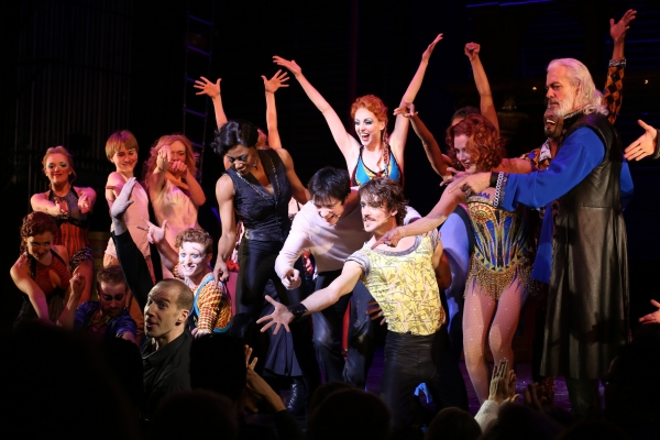 Andrew Cekala, Rachel Bay Jones, Andrea Martin, Patina Miller, Matthew James Thomas, Charlotte d'Amboise & Terrence Mann & cast with Music Director Charlie Alterman