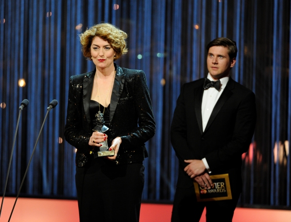 Presenters Anna Chancellor and Allen Leech