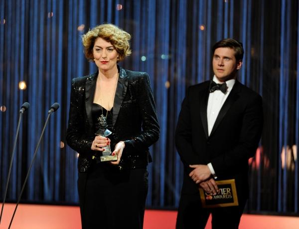 Presenters Anna Chancellor and Allen Leech Photo