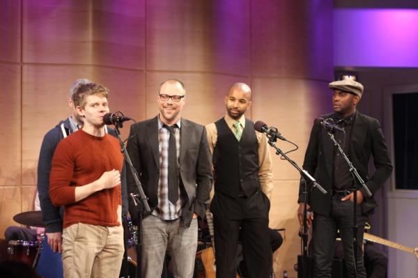 Andrew Keenan Bolger, Chris Miller, Antuan Raimone and Douglas Lyons Photo