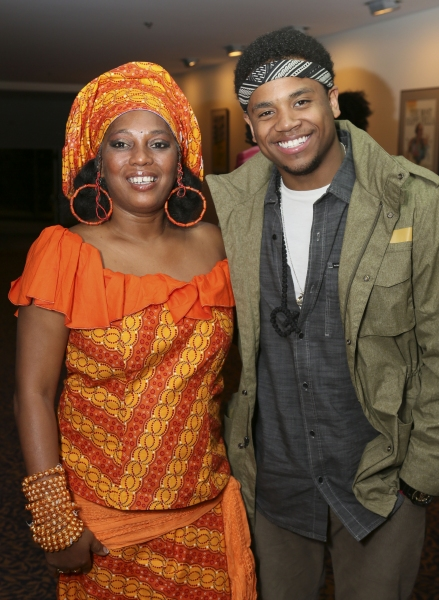 Yeni Kuti, Fela's oldest daughter, and Tristan Wilds