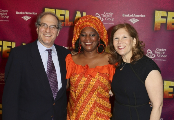 Producer Stephen Hendel, Yeni Kuti, Fela's oldest daughter, and Producer Ruth Hendel