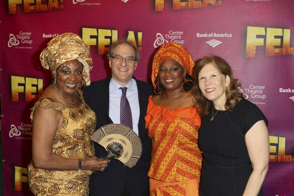 Sandra Izsadore, Producer Stephen Hendel, Yeni Kuti, Fela's oldest daughter, and Producer Ruth Hendel