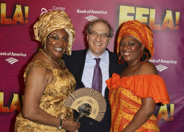 Sandra Izsadore, Producer Stephen Hendel and Yeni Kuti, Fela's oldest daughter