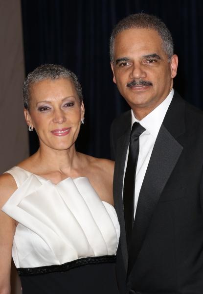 Eric Holder & wife Sharon Malone