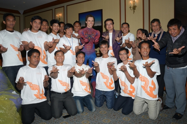 Photo Flash: Cambodian Shadow Puppet Troupe Wat Bo Visits SPIDER-MAN