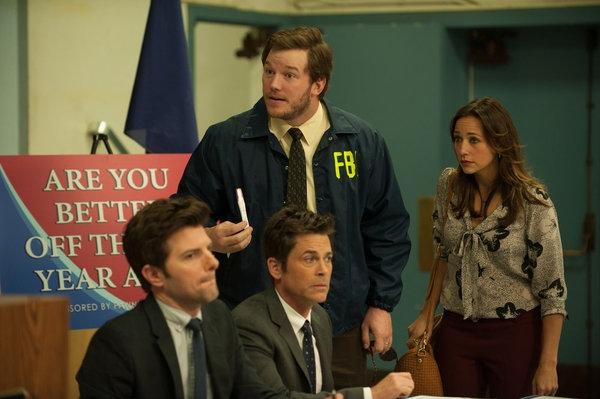 Adam Scott, Rob Lowe, Chris Pratt, Rashida Jones Photo