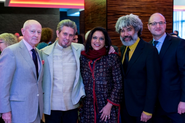 Honorees Michael Findlay, Elliot Goldenthal, Mira Nair, Fred Wilson and NYFA Executive Director Michael Royce