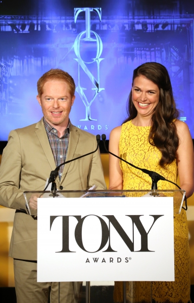 FREEZE FRAME: Jesse Tyler Ferguson and Sutton Foster Announce the 2013 Tony Nominations!