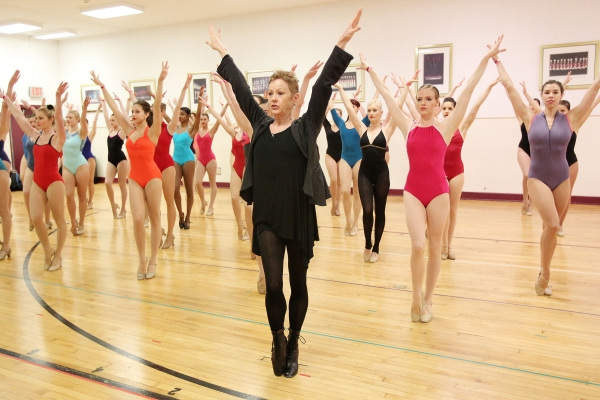 Director and Choreographer of the Radio City Christmas Spectacular, Linda Haberman, teaches aspiring dancers a choreographed routine at Rockettes auditions at Radio City Music Hall for the 2013 Radio City Christmas Spectacular production.
