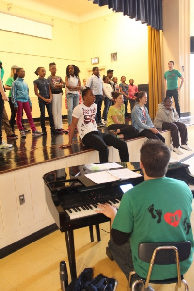 Voice class (Aaron Jodoin on piano, Michael Deleget also pictured)