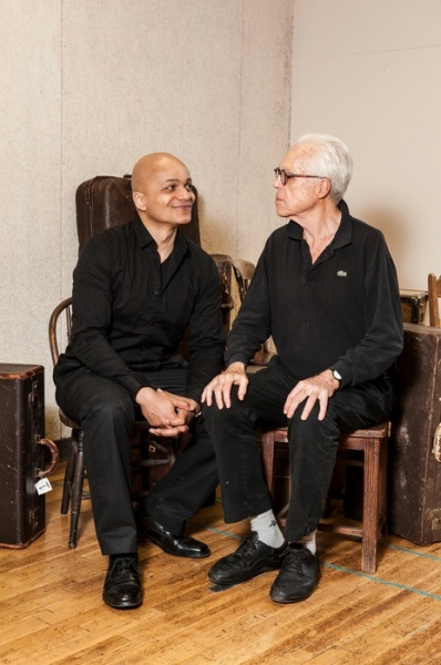 Photo Flash: John Guare, Omar Sangare and More Rehearse 3 KINDS OF EXILE at Atlantic Theater