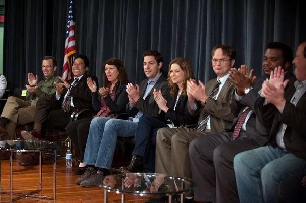 Jenna Fischer, Rainn Wilson, Craig Robinson, Brian Baumgartner, Ed Helms, Phyllis Smi Photo