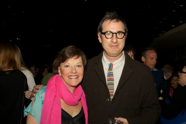 Helen Carey with Jon Robin Baitz