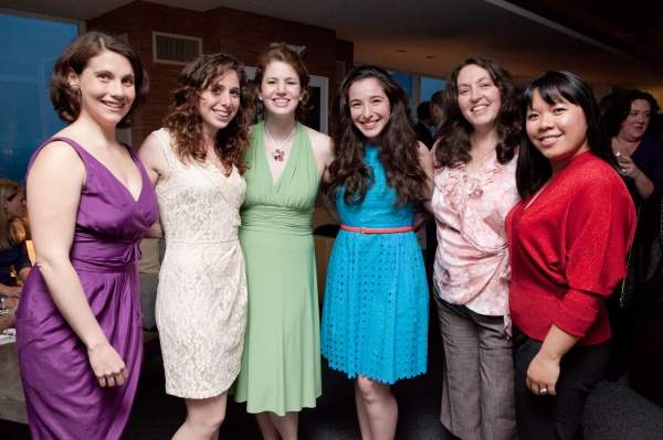 Directors Alexis Grausz, Danielle Roth, and Julie Schwartz Webb pose with producer Anya Wallach, costume mistress Terri Canziani and director Natalie Gray.