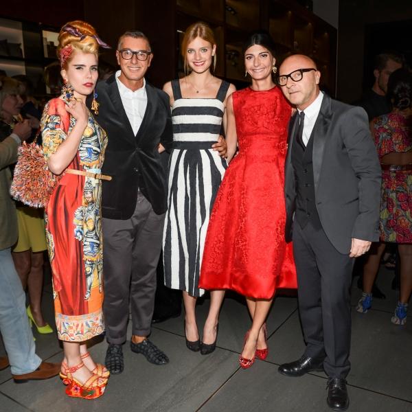 Paloma Faith, Stefano Gabbana, Constance Jablonski, Giovanna Battaglia, Domenico Dolce