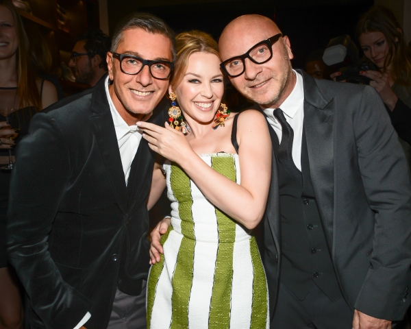 Stefano Gabbana, Kylie Minogue, Domenico Dolce Photo