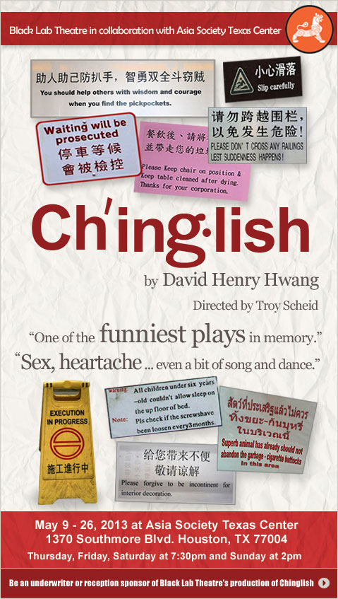 BWW Interviews: Black Lab Theatre's Director and Cast of CHINGLISH Talks Abut the Show