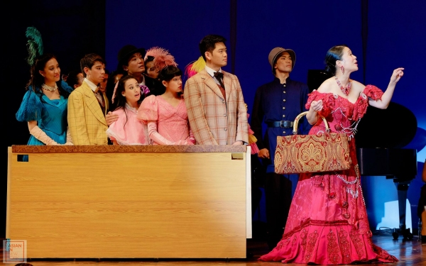 (R) Christine Toy Johnson and cast members of HELLO, DOLLY! Photo
