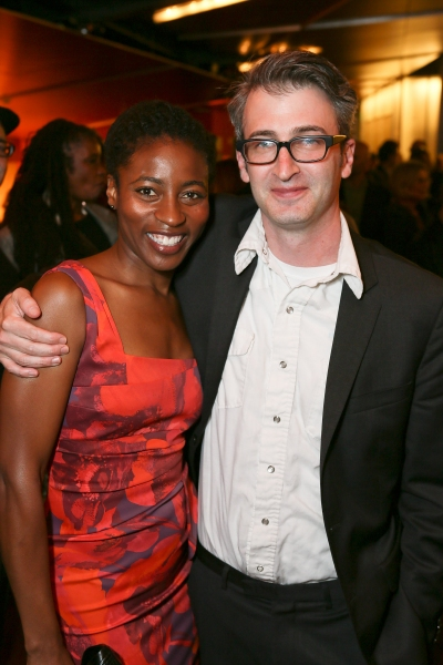 """From left, Choreographer Ameenah Kaplan and Director Daniel Aukin pose during the party for the opening night performance of """"The Royale"""" at Center Theatre Group's Kirk Douglas Theatre on Sunday, May 5, 2013, in Culver City, Calif. (Photo by Ryan Miller/"""