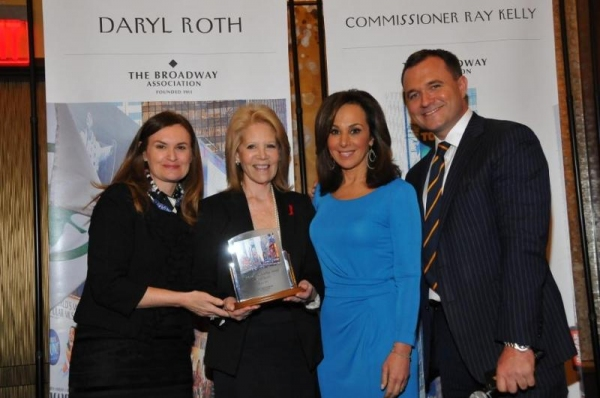 Broadway Association Chairman Cristyne Nicholas and Good Day New York''s Greg Kelly and Rosanna Scotto Present Broadway Producer Daryl Roth with the Visionary Leadership Award at the Broadway Association''s Annual Awards Celebration at the InterContinenta