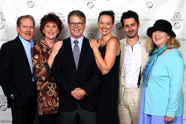 Director Richard Seer (third from left) and cast members (from left) Robert Foxworth, Kandis Chappell, Dana Green, Andy Bean and Robin Pearson Rose at the opening night party for Other Desert Cities on May 2, 2013. The San Diego premiere of Jon Robin Bait