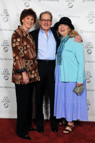 (from left) Old Globe Associate Artists and cast members Kandis Chappell, Robert Foxworth and Robin Pearson Rose at the opening night party for Other Desert Cities on May 2, 2013. The San Diego premiere of Jon Robin Baitz's Other Desert Cities, directed