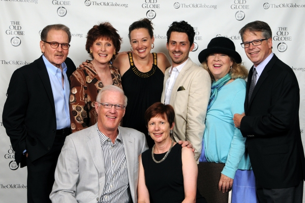 Production Sponsors Paula and Brian Powers (seated) with director Richard Seer (far right) and cast members (from left) Robert Foxworth, Kandis Chappell, Dana Green, Andy Bean and Robin Pearson Rose at the opening night party for Other Desert Cities on Ma