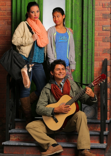 ricia Marciel as Paula; Stephanie Zaharis as Lucy and Pedro Haro as Elliot Photo