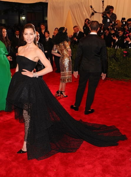 Mandatory Credit: Photo by David Fisher/Rex / Rex USA (1290857bv)Jessica BielCostume Institute Gala Benefit celebrating the Punk: Chaos To Couture exhibition, Metropolitan Museum of Art, New York, America - 06 May 2013WEARING GIAMBATTISTA VALLI