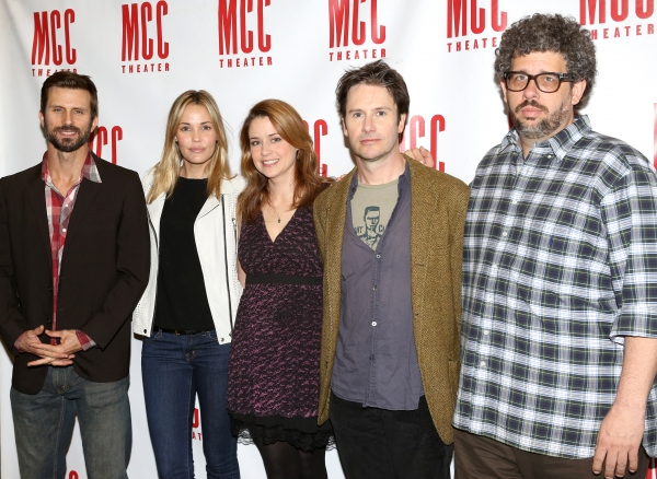 Fred Weller, Leslie Bibb, Jenna Fischer, Josh Hamilton, Neil LaBute  attending the Meet and Greet the Cast and Creative Team of MCC Theater''s ''Reason To Be Happy''  at the MTC Rehearsal Studios in New York City on 5/7/2013.