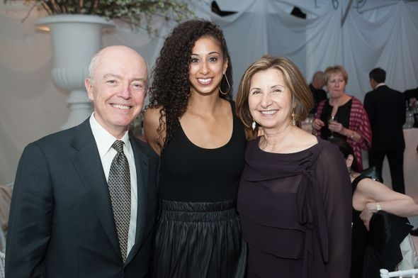 Herb and Simin Allison with Ailey dancer Alicia Graf Mack Photo